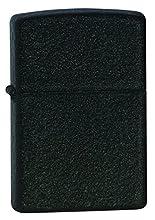 Zippo 236 Black Crackle Lighter, Ottone, One Size
