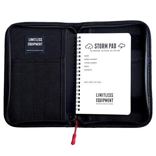 LIMITLESS EQUIPMENT | Custodia tattica per notebook tattica e pad/pianificatore di campo/organizer per EDC e militare (con StormPad)