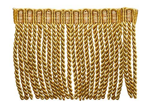 15,2cm lang Edelstahldraht Fransen Rand, Stil # Englische-Mittel- und Light Gold-Golden Strahlen 4875(Verkauft von der Hof) -