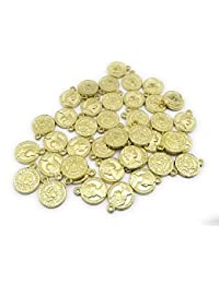 Satyam Kraft Metal DIY Coins for Jewelry Making,Craft Coins,Decoration,Craft Material (50, 1.5 cm)