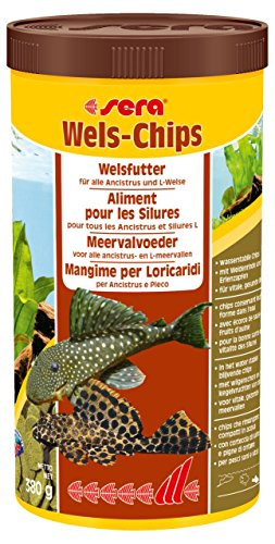 sera 00508 Wels-Chips 1000 ml - Die Chips für raspelnde Welse (z.B. Ancistrus und L-Welse) -