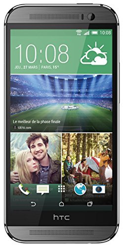 HTC One (M8) Smartphone (12,7 cm (5 Zoll) LCD-Display, Quad-Core, 2,3GHz, 2GB RAM, 5 Megapixel Frontkamera, FM-Radio, Android 4.4.2) metallgrau (Generalüberholt) -