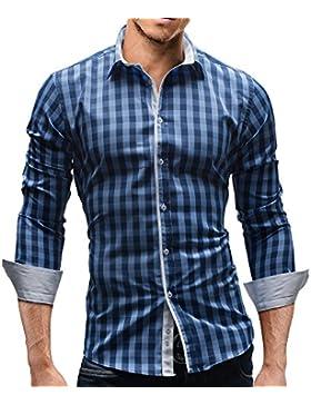 Merish Herren Hemd Herrenhemd Kariert 7 Modelle S-XXL Freizeithemd 144