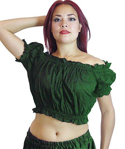 Plus-Größe Bauchtanz Tribal Choli Top Kostüm UK Größe 16/18-22, XL XXL XXXL ()