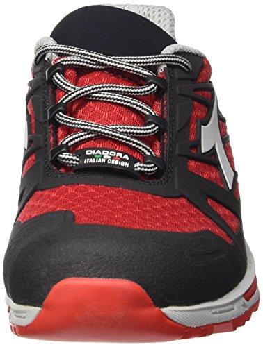 Diadora Energy Boost 3, Chaussures de Course Homme Blanc Cassé (Rosso Fiamma/nero)