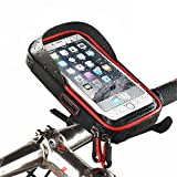 Zgsjbmh Wasserdichte Fahrradregalgepäckregaltasche Wasserdichte Handy Fahrrad Lenker & Motorrad Halterung Halter Cradle mit 360 drehen Smartphones bis zu 6 '