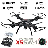Syma X5SW Explorers 6 Axis Gyro 2.4GHz 4CH FPV RC Quadcopter mit 0.3MP Kamera / 360 Grad Eversion RTF - SCHWARZ