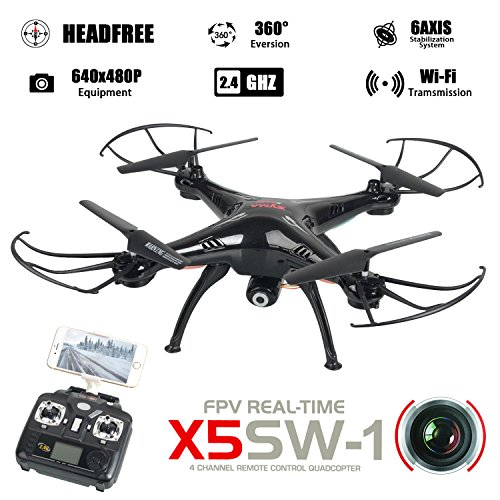 WayIn® Syma X5SW Exploradores cámara de 4 canales WiFi FPV RC Dron...