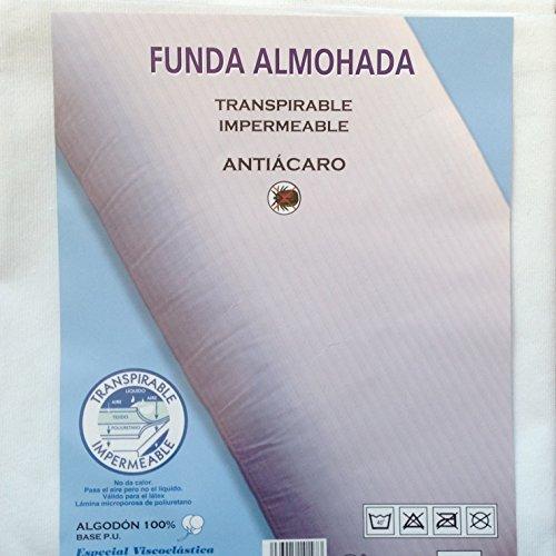 HC enterprise Funda Almohada 70cm,Transpirable y Impermeable,2 unidaes