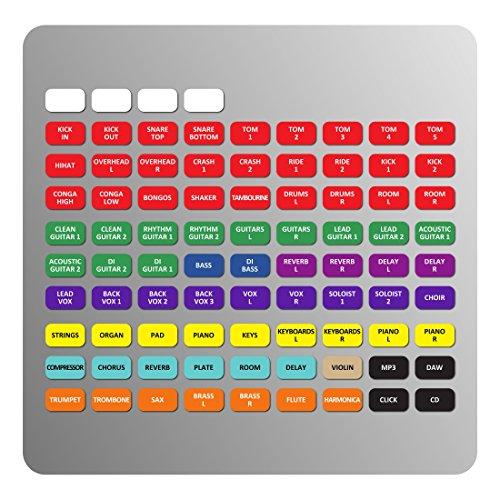 Magnetische Etiketten für allen & Heath qu-16/24/32Mixer (Mixer Allen)
