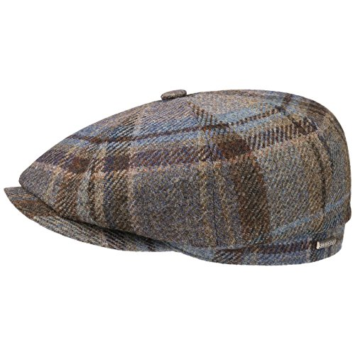 Stetson Casquette Hatteras Wool Check Homme - Made in The EU Casquettes Gavroche pour l'hiver avec Visiere, Doublure Automne-Hiver