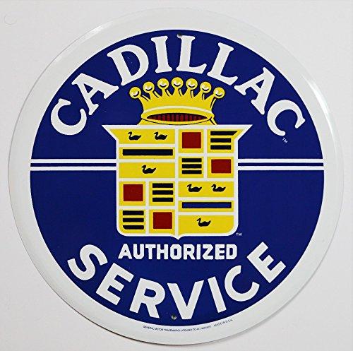 Blechschild Cadillac Service, rund (Cadillac Escalade-motor)