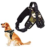 RCruning-EU No-Pull-Hundegeschirr für Kleine Mittlere Große Hunde Geschirr Verstellbar Welpengeschirr für Training oder Walking-Camouflage Green-L-Chest 63-84cm-0.158KG