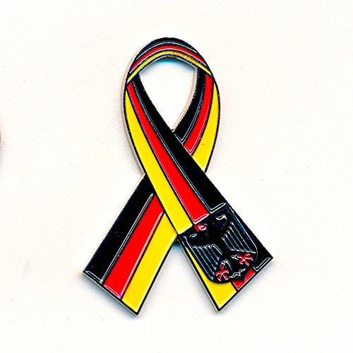 Kleine Deutschland Schleife Ribbon Loop Nostalgie Retro Edel Pin Anstecker 0867