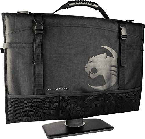 ROCCAT Latest Version Tusko Across-The-Board Flat Screen/Widescreen Bag, Black - Safety First Bag