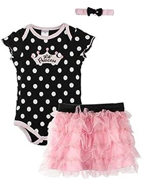 Sannysis® Neonato Baby Girl Cut fascia + romper + TUTU Outfit Abbigliamento (nero, 6M)
