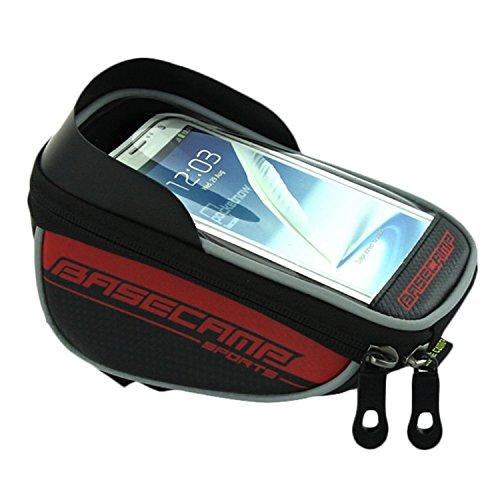 Radfahren Taschen Paar HEAD Tube Rahmen Tasche Halter Lenkertasche für für 14cm Handy Rot