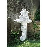 Euro3Plast–Brunnen Muschel, Farbe Weiß, Größe: 67cm x 45cm x h 121cm