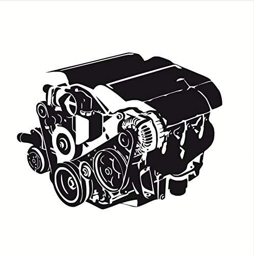 Zxfcczxf Abnehmbare Vinyl Wandaufkleber Abziehbilder Cooles Auto Motor Wohnzimmer Wohnkultur Auto Werkstatt Auto Repair Service Garage Wandbild77 * 53 Cm