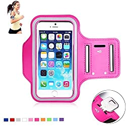 Apple iPhone X (2017) New Hot (5.5) Arm Band Workout Cover Sport Gym Case For Apple iPhone X (2017) with screen proptector (HOT PINK)