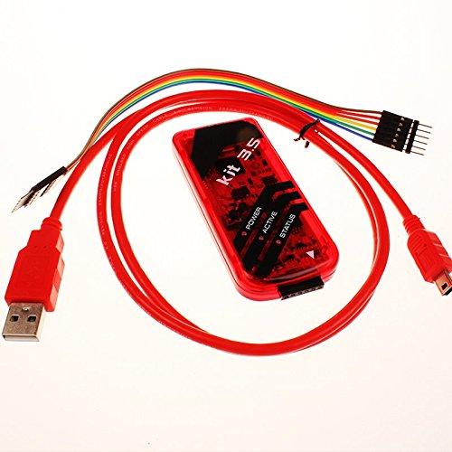 Sukvas PICkit3.5 / PIC Kit3 Emulator-Kit 3.5 Programmer Offline Download 0.9m / Red (Pic Programmer Kit)