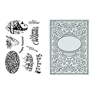 Couture Creations Ornate Christmas 5x7 Embossing Folder & Stamp Set, Synthetic Material, 23.1 x 27.7 x 0.8 cm
