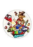 Mario Odyssey bedruckt Esspapier Kuchen Topper