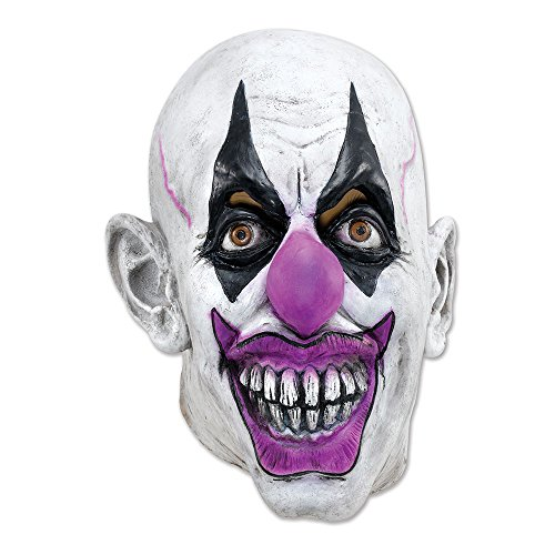 Bristol Novelty BM345 Clown Maske, weiß, unica