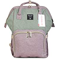 Motherly Stylish Babies Diaper Bags for Mothers - Premium Version (Purple,Green (Upgrade))