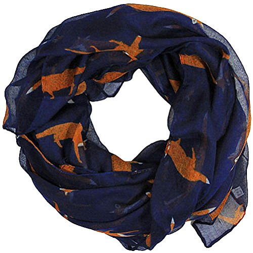 women-scarves-fox-print-large-lightweight-scarf-shawl-wrap-navy