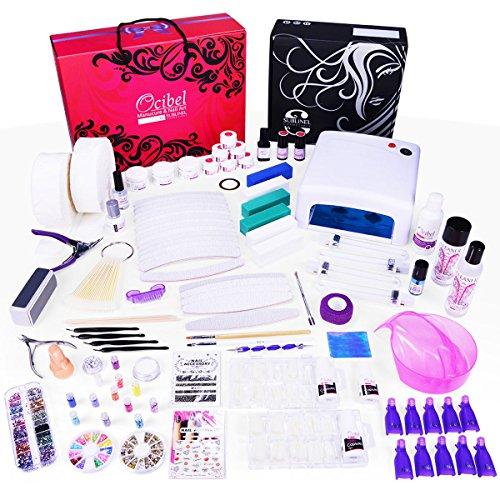 Ocibel - Kit XXXL Manucure Faux Ongles 36W Gel UV - Monophase Noël - Manucure, Faux Ongles et Nail Art