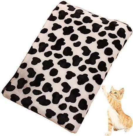 BRAVOSOLEIL Bequeme Einfache Muster Pet Blanket Warm waschbare weiche Gewebe-Bett Decken für den Schutz Welpen-Katze (40 x 60cm) für Haustiere