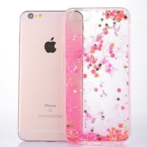iPhone 6/6S 4.7 Hülle, Voguecase Silikon Schutzhülle / Case / Cover / Hülle / TPU Gel Skin für Apple iPhone 6/6S 4.7(Perlen Treibsand-born to shine-Pink) + Gratis Universal Eingabestift Frucht-Treibsand - Grapefruit rot