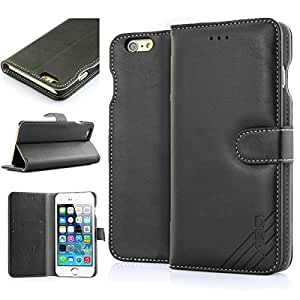 iPhone6 Plus Leather case,AaBbDd Soft Synthetic PU Leather Case for iPhone6s plus & iPhone6 plus Cover,Protective Case iPhone6 Plus wallet,ABD2038 (Black)