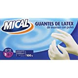 Guantes mical latex ext.t/p. 100 u