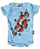Six Bunnies True Love Heart Flash Baby Strampler, Farbe:hellblau, Kindergrößen:0-3 Monate