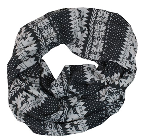 Frost Vardov - Norweger BiColour Rundschal Loopschal modischer Schal soft angenehm NorwegerMuster TUCH HERBST WINTER Accessory