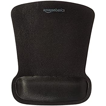 AmazonBasics SBD089WD Gel Mouse Pad with Wrist Rest (Black)