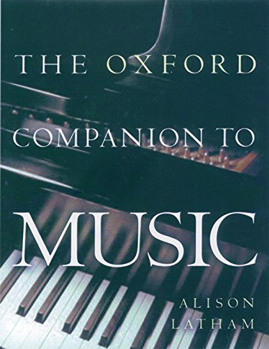 The Oxford Companion to Music (División Academic) (Oxford Dictionary Dance Of)