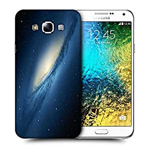 Snoogg Blue Galaxy Printed Protective Phone Back Case Cover ForSamsung Galaxy E7