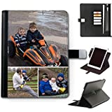 Personalised iPad Case, Custom Photo Leather Side Flip 360 Swivel Cover For Apple iPad 6 (2018), Personalize With Image - Customize Now