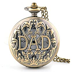 PSFY Dad Dangle Pendant Pocket Quartz Watch Chain Christmas Gift