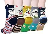 LITTONE® 5 Pares Calcetines De Algodón Perro Cachorro Dibujos Animados Calcetines Para Mujer (LTNBABSOCK-0061)