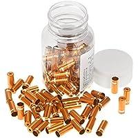 Terminales de cable de freno Lixada, 100 unidades, para bicicleta, aleación de aluminio (4mm/5mm), color dorado, tamaño 5