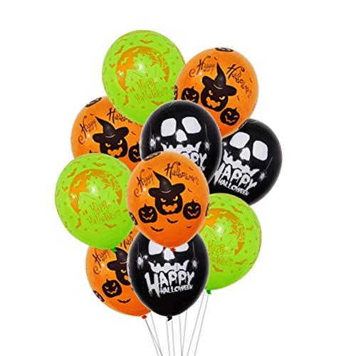2 Zoll Halloween Latex Luftballons Spooky Kürbis Fledermäuse Happy Halloween Party Luftballons Dekorationen (Zufällige Farben) ()