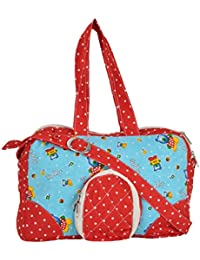 SEW TO SERVE Diaper And Multi-Purpose Baby Bag (Red And Blue)