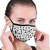 Just Relax Shop Französische Bulldogge Eiffelturm Staubmaske für Staub-Mundmaske, waschbar und wiederverwendbar, Anti-Staub-Maske