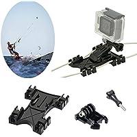 Kitesurf Kite Line Mount, williamcr Kiteboarding línea Holder Adaptador Adaptable para GoPro Cámara Accesorios Hero5Negro Hero HD Hero 4Hero 3+