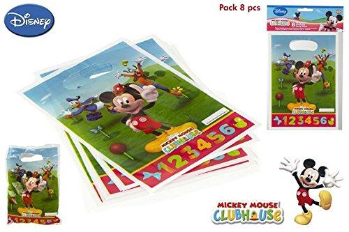 Disok-8sacchettini a tema topolino, per caramelle e regalini per compleanni di bambini