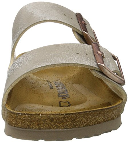 Birkenstock - Arizona Birko-flor, Pantofole Donna Beige (Animal Fascination Mud)